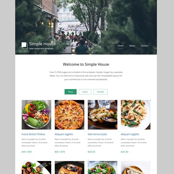 Restaurants & Food Templates