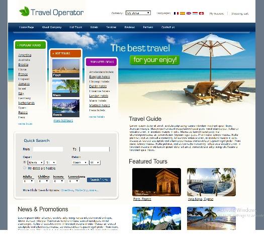 Travel Operator Templates